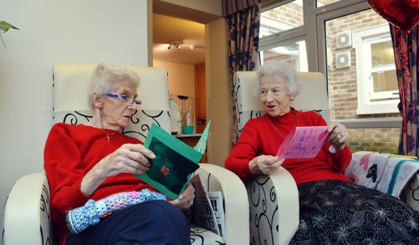 copy-of-pat-weatherseed-left-and-mary-reed-right-reading-valentine_s-day-cards